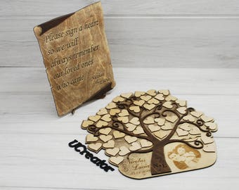 Wedding guest book alternative 3D - wedding tree - personalized guest book - custom guestbook