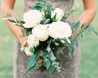 White Rose Ranunculus Bridal Bouquet