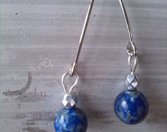 Lapis lazuli and Silver earrings