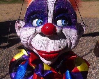 marionette big Clown 2 EDA puppet artist street televariete string professional Art Doll Handmade