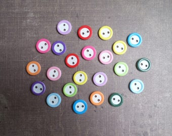 80 mix colors and white 1.1 cm 2 hole buttons