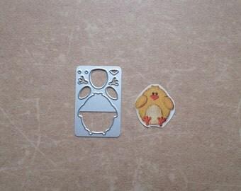 Die cut matrix Sizzix Easter chick bird