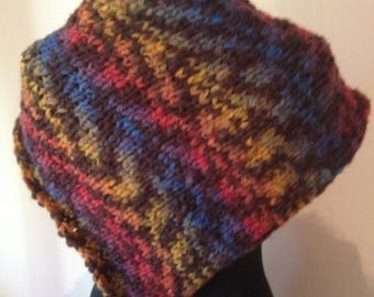 scarf or small scarf multicolored wool