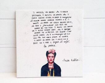 Mattonella decorativa da appendere Frida Kahlo