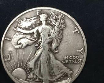 1943 d Walking Liberty half dollar