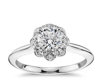 Halo Forever One Moissanite Engagement Ring