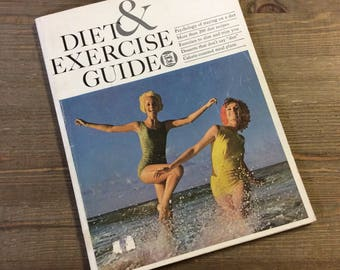 Vintage Health Book - Diet and Exercise Guide - Family Circle - Diet Book - Exercise Guide - Vintage Cookbook - Cookbook