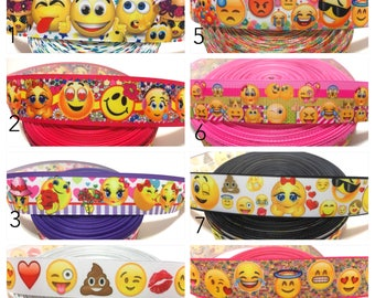Emoji Ribbon,Smiley Ribbon,Emoji Grosgrain Ribbon,Smiley Face Ribbon,Emoji Faces Ribbon by the Yard,Emoji Party Ribbon,Emoticon Ribbon