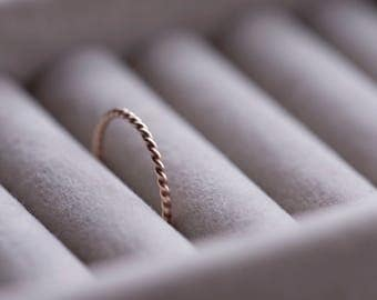 Twist Ring | Rose Gold Filled Ring | Dainty Ring | Stacking Ring | Minimalist Ring | Delicate Ring | Gold Stacking Rings | Gold Ring