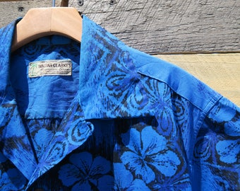 0335 - 50s Blue Waltah Clarkes - Hawaiian Shirt