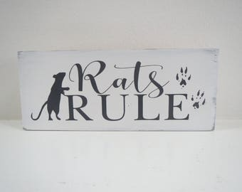 Rat Sign/Pet Sign/Small Animal Sign/Painted Rat Sign