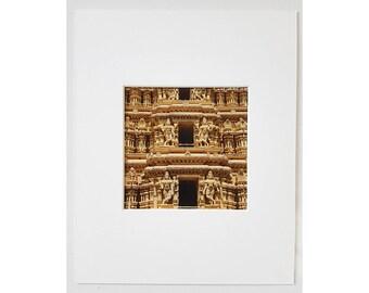 Hindu Temple, Spiritual Fine Art Photography, Shweta Varahaswamy Temple, Mysore Palace, South India, Dravidian Style, 8x10 Matted Print