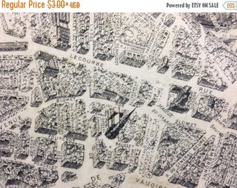 Sale Paris Map Cotton Fabric from the Destination Paris Collection by Whistler Studios for Windham Fabrics