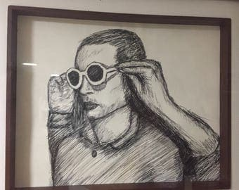 TØP: pen drawing