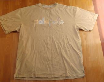 PELLE PELLE t-shirt, vintage beige Marc Buchanan jersey, 90s hip hop shirt of 1990s hip-hop clothing, gangsta rap, size XXL 2XL