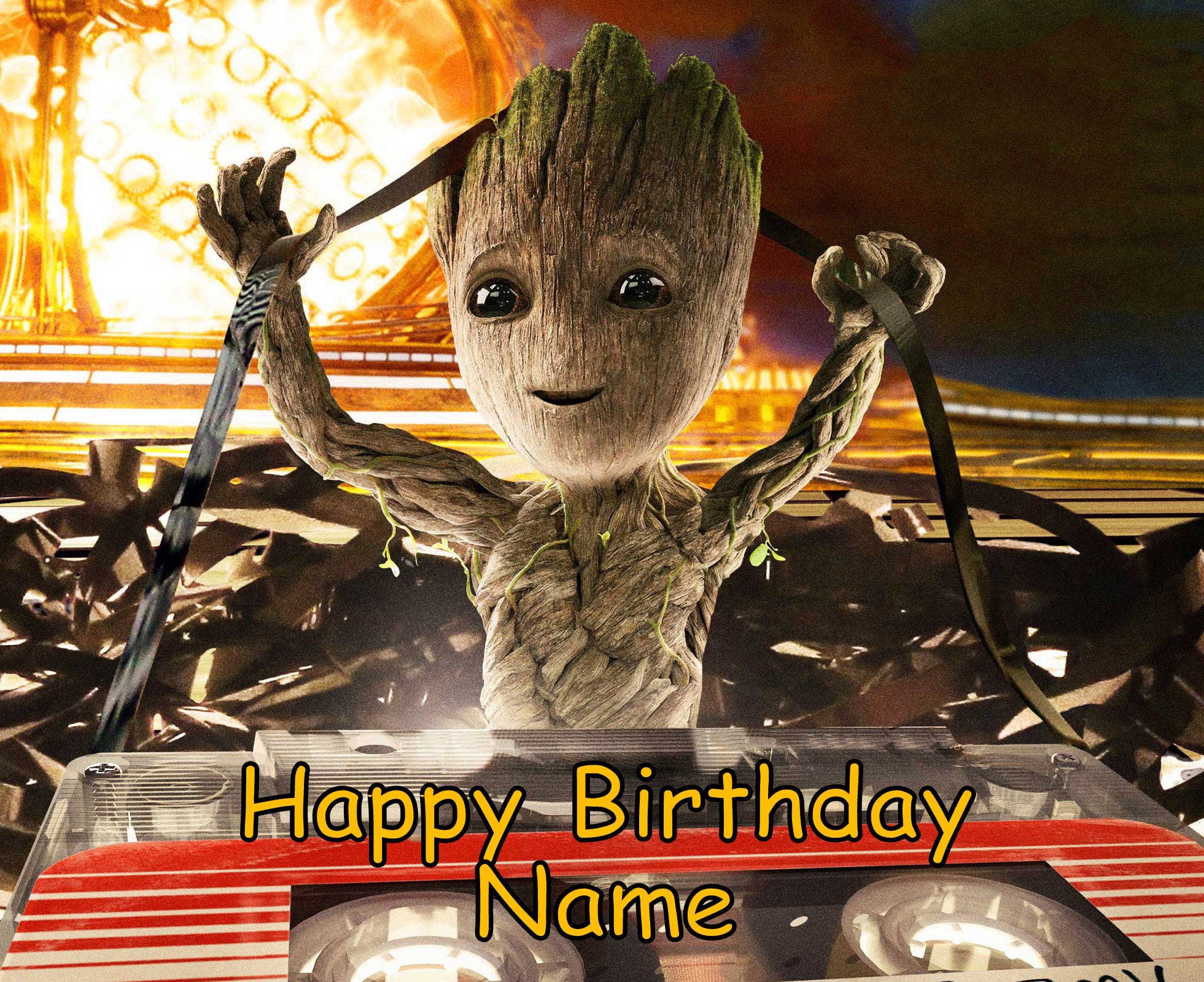 Guardians of the Galaxy Baby Groot Edible Image Cake Topper