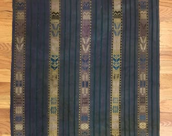 Antique 19th Century Beautiful Woven Silk Possibly Indonesian Fabric