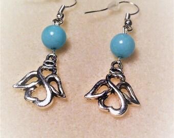"""""""Blue Angel"""" earrings"""