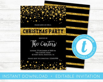 Christmas invitation etsy edit yourself christmas party invite editable invitation christmas invitation editable templett invite solutioingenieria Images
