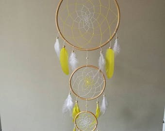 Yellow and white dream catcher