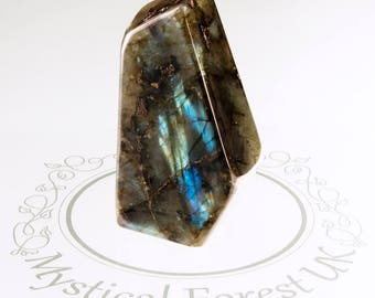 Freestanding Labradorite Crystal, Healing Crystals And Stones Large Polished Labradorite, Iridescent Crystal, Intuition stone