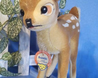Vintage Steiff Bambi, 22 cm, with papertag, near mint condition