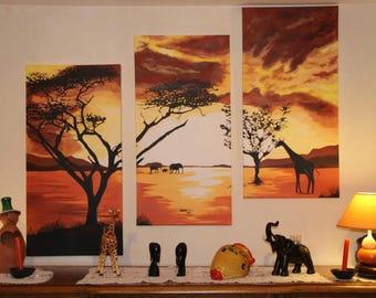 Paintings themes landscape on canvas set - custom