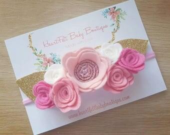 Pink Flower Crowns