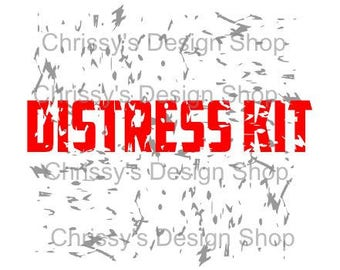 Distress Kit template for silhouette studio / SVG distress kit / distress cut template / grunge distress / dxf / eps / distress stencil