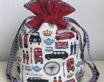Knitters /Crafters Project Bag - I Love London