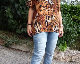 T shirt XXL silky cotton jungle