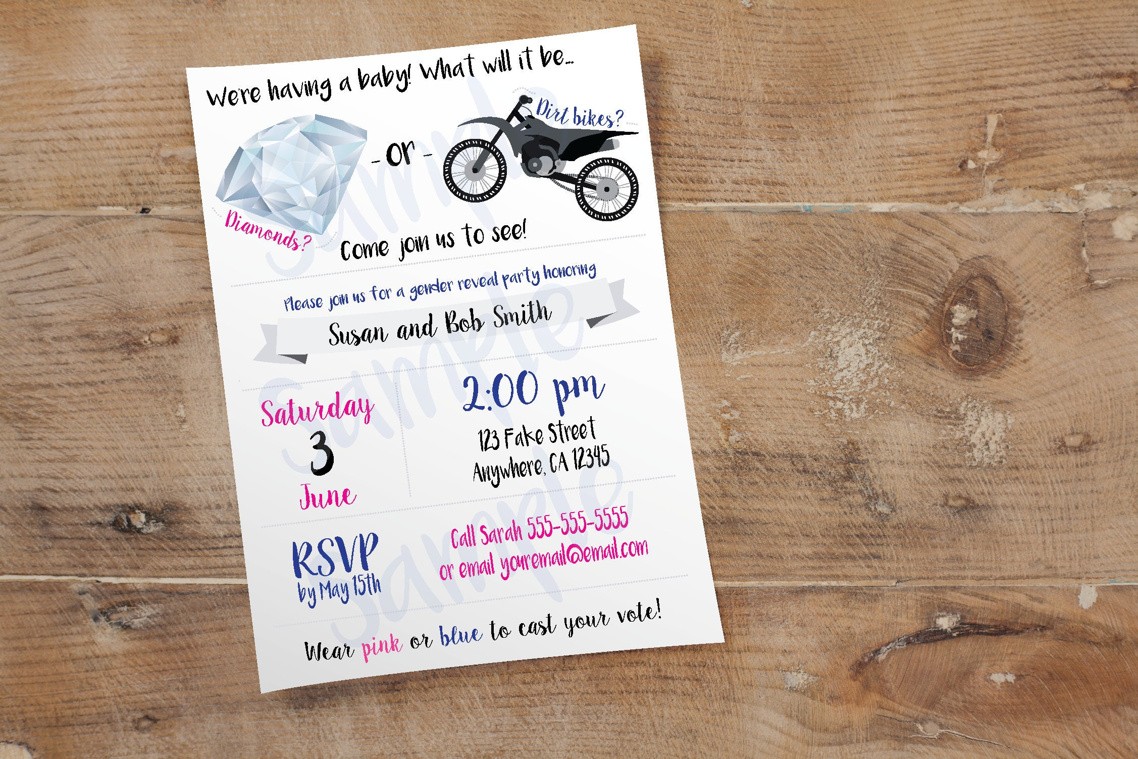 Dirt bike invitation – Custom Party Invitation