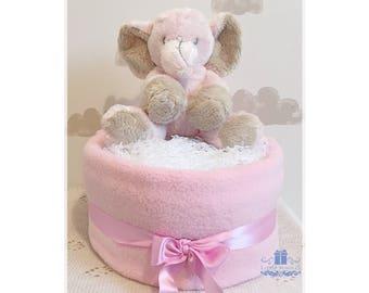 Pink Diaper Cake, Girl Nappy Cake, Baby Girl Gift, Baby Shower Gift, New Baby Gift, Newborn Gift, Unique Baby Gift, Girl Diaper Cake, Hamper