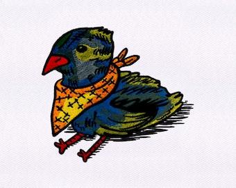 Scarf Wearing Chick Embroidery Design | 4x4 Hoop Embroidery Design | Machine Embroidery Design | Embroidery Designs | DigitEmb Design