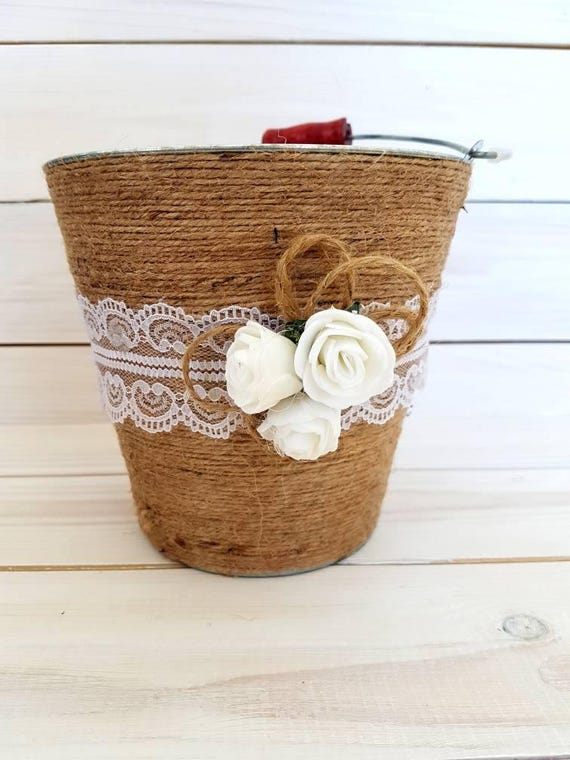 Flower Girl Baskets Canada : Rustic wedding flower girl basket
