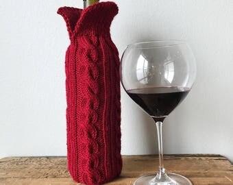 Wine Bottle Sweater, Wine Sleeve, Wine Bottle Wrap, Knit Wine Sweater, Knit Bottle Sweater, Knit Wine Gifts, Knit Bottle Sleeve, Knit Gifts