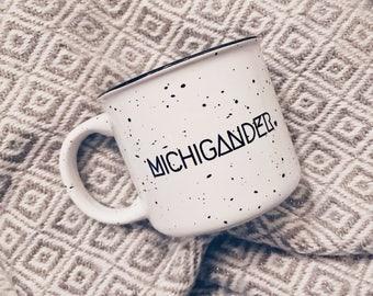 Michigander Coffee Mug -  Michigan, mug, coffee lover gift, detroit, Christmas gift, camp inspired ceramic mug, camp mug pure michigan