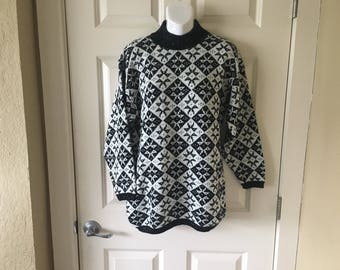 Pull over knit sweater