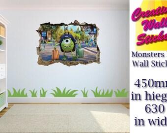 MONSTERS UNIVERS wall sticker Children's bedroom large Mike Wazowski. w63cm x h45cm