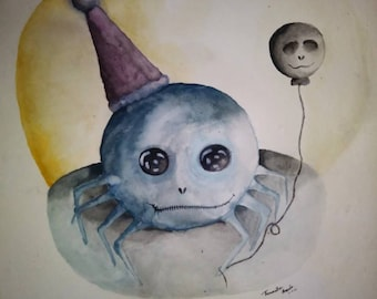 Happy birthday water color painting