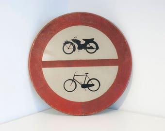Vintage traffic sign