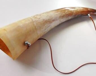Gift for men : Horn bugle - bugle - buffalo horn bugle