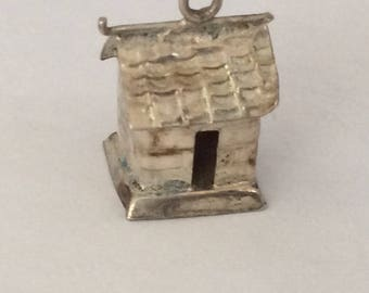 Sterling silver Asian Chinese house charm vintage #405 s
