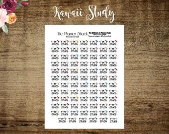 Kawaii Study Printable Planner Stickers // Printable // Planner Printables // Study // Homework // Kawaii // School // Back To School