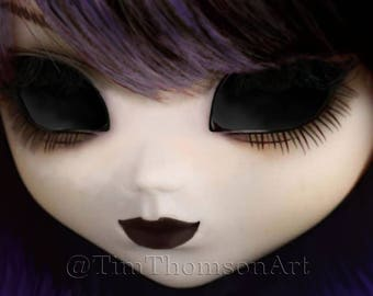 """ACEO Print of my digital painting """"Doll Eyes"""", a highly collectible, limited edition Art Trading Card"""