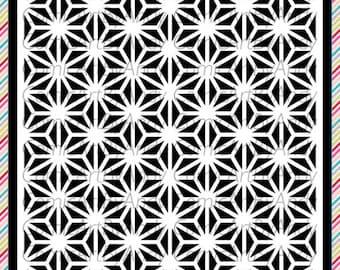 Pattern stencil  reusable stencil wall furniture canvas stencil