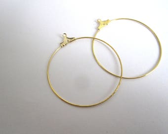 Set of 4 suppors 40mm gold hoop earrings