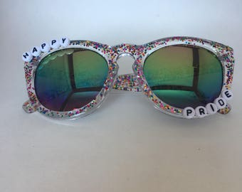 Rainbow Happy Pride Sunglasses