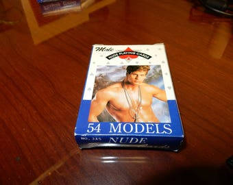 Vintage 54 Models Adult Nude Male Playing Cards Deck **