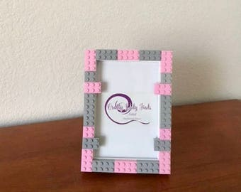 Lego Frame Pink and Gray